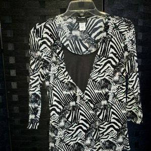 Brittany Black Woman Blouse Size PM